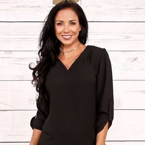 SOTO LIFESTYLE Dresses - New SEXY Silky Semi Sheer Black T shirt Dress L 1x